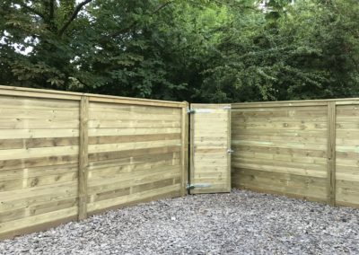 Reflective fencing and gate