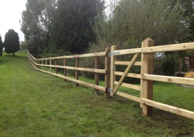 Post & Rail fencing and 5Bar gate
